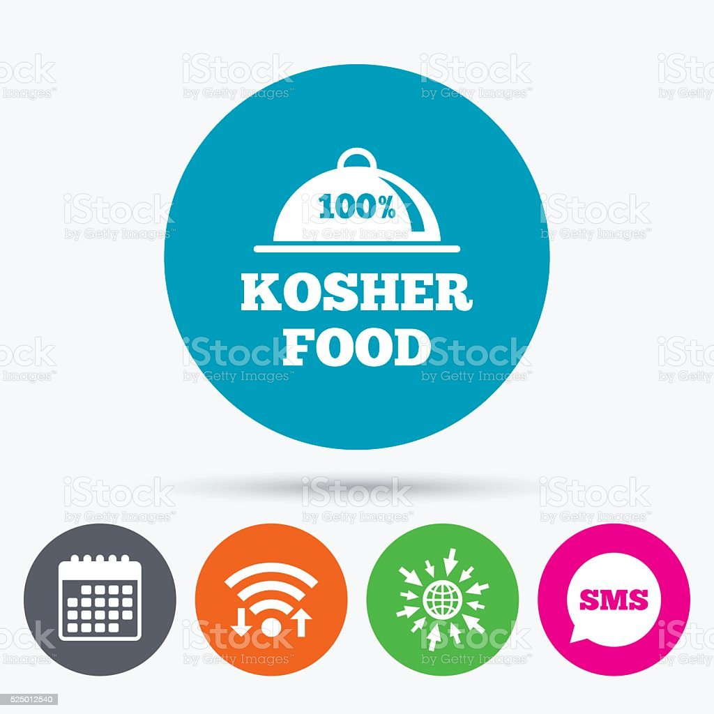 Kosher food product sign icon. Natural food. vector art illustration