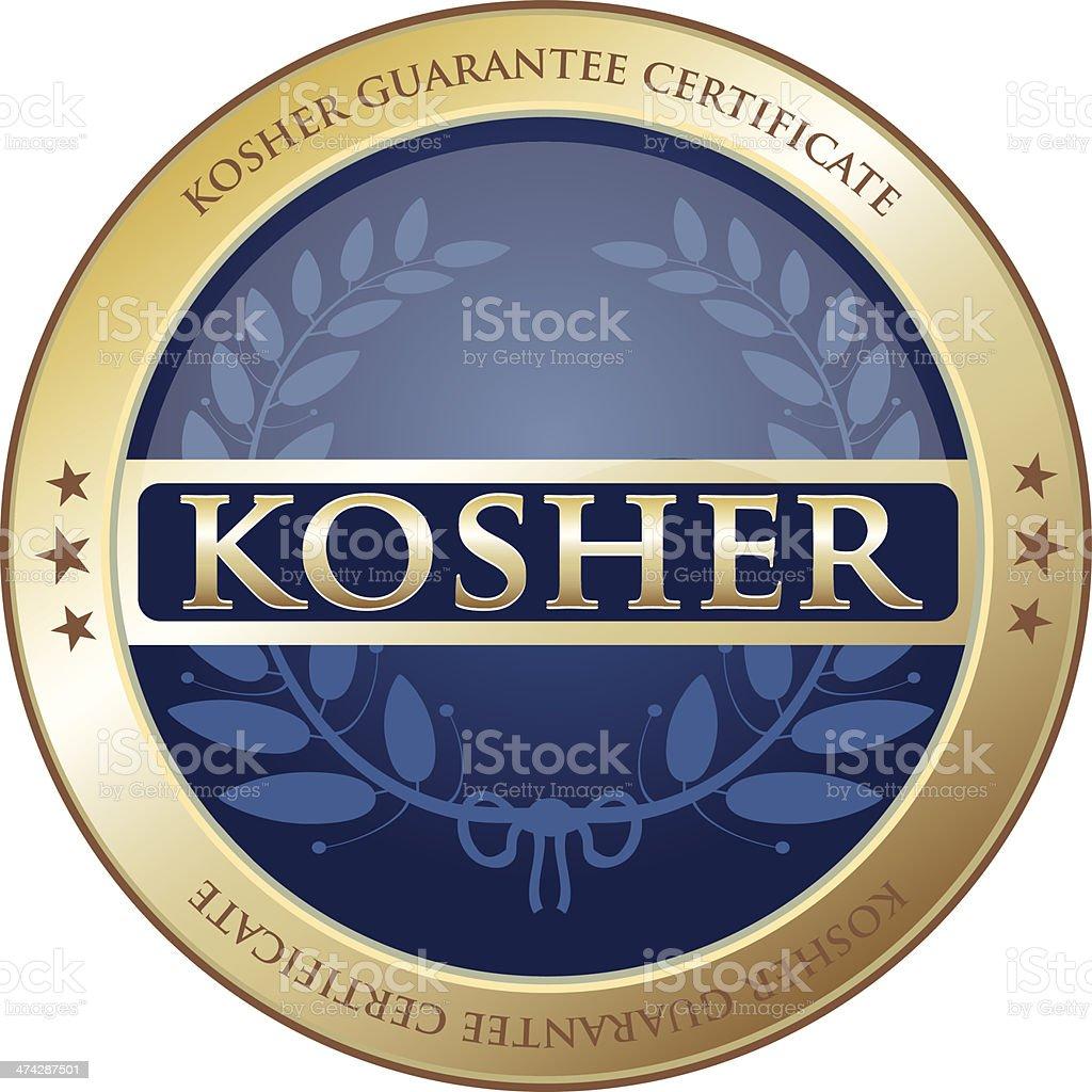 Kosher Guarantee Certificate vector art illustration