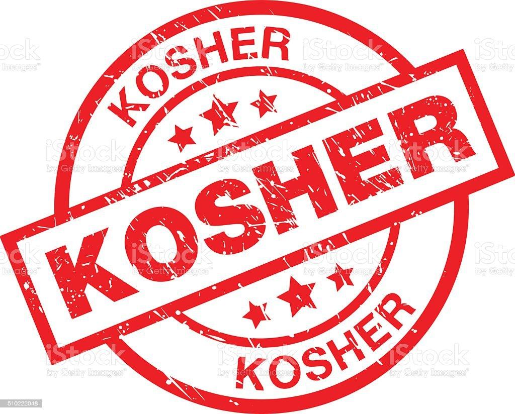 Kosher vector art illustration