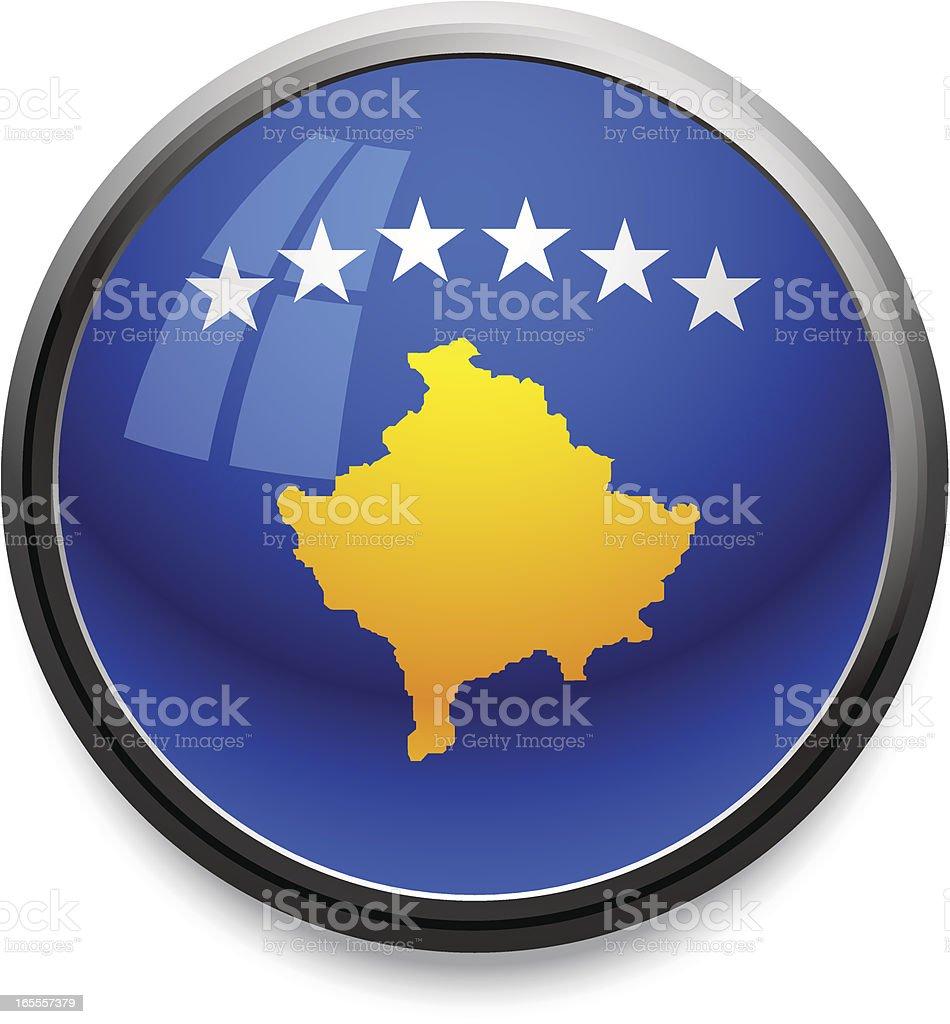 Kosovo - flag icon royalty-free stock vector art