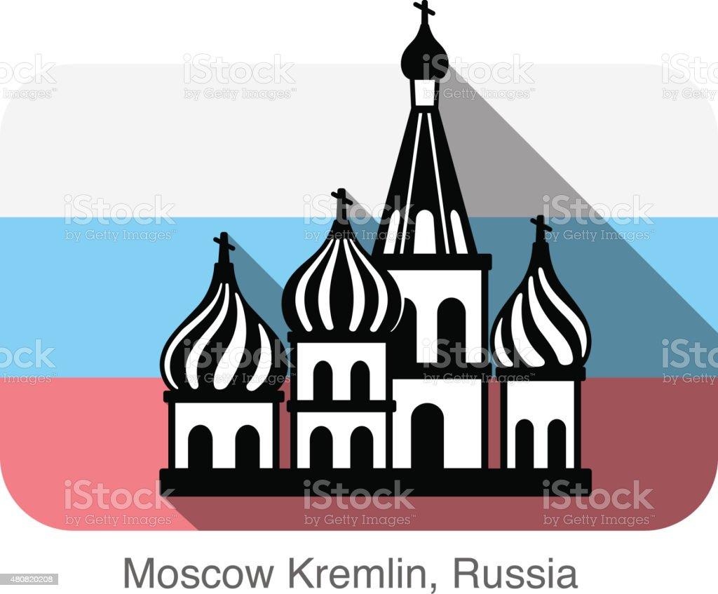 Kremlin silhouetta, famous landmark series vector art illustration