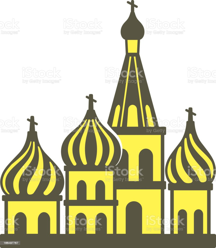 Kremlin silhouetta vector art illustration