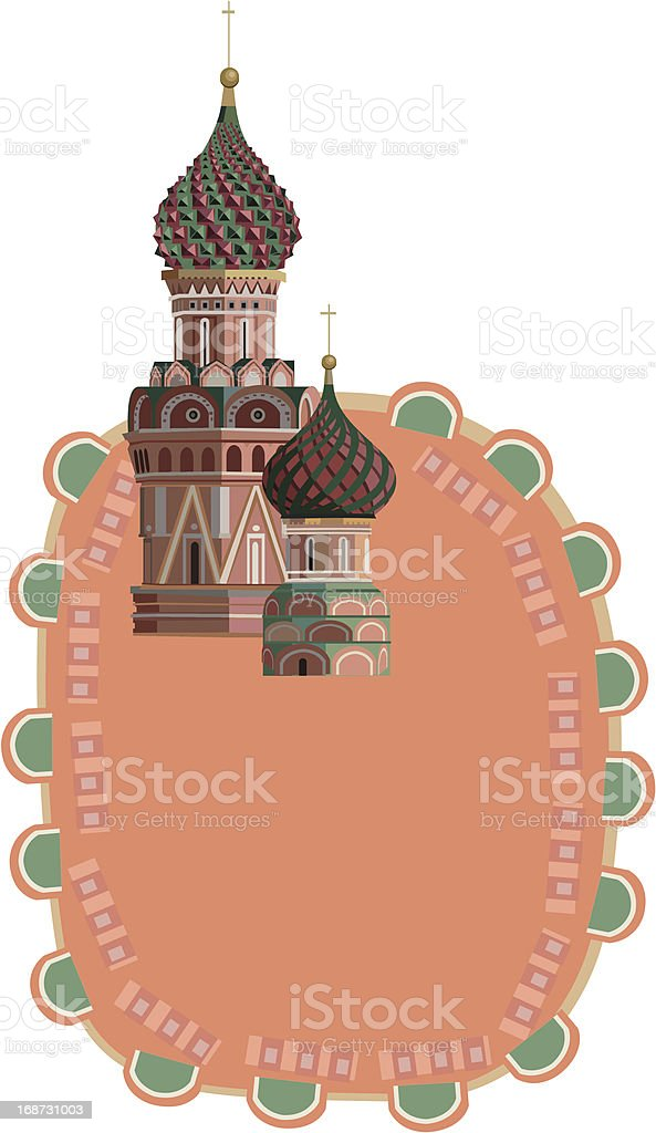 Kremlin Towers royalty-free stock vector art