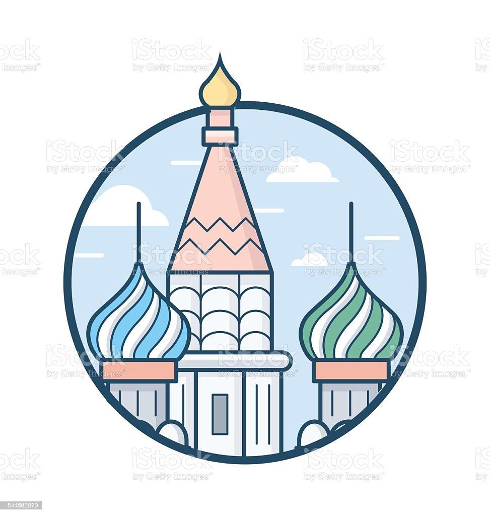 Kremlin Vector Icon vector art illustration