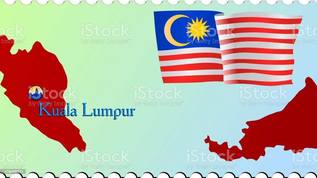Kuala Lumpur Die Hauptstadt Von Malaysia Vektor Illustration ...