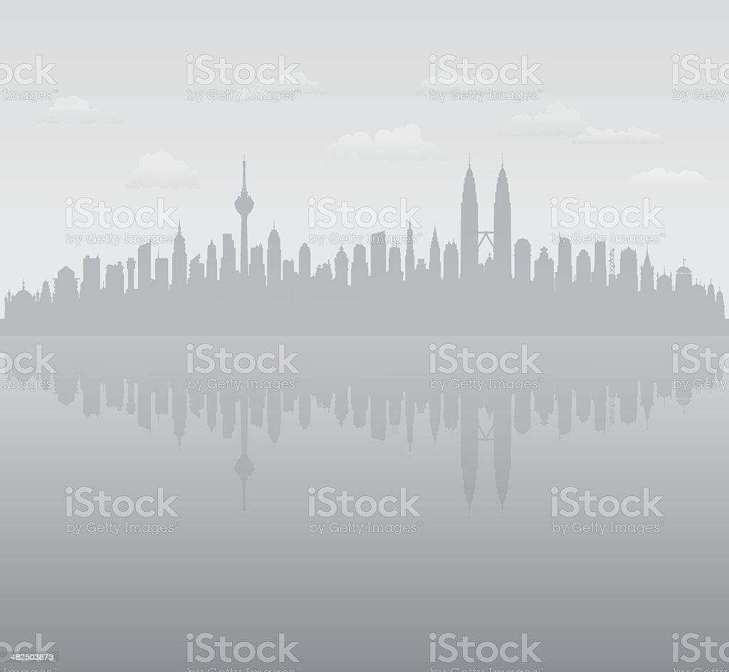 Kuala Lumpur Haze royalty-free stock vector art