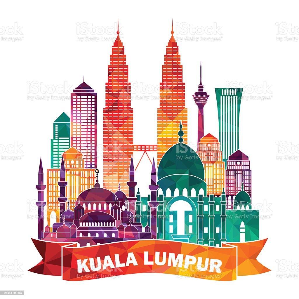 Kuala Lumpur skyline. Vector illustration vector art illustration