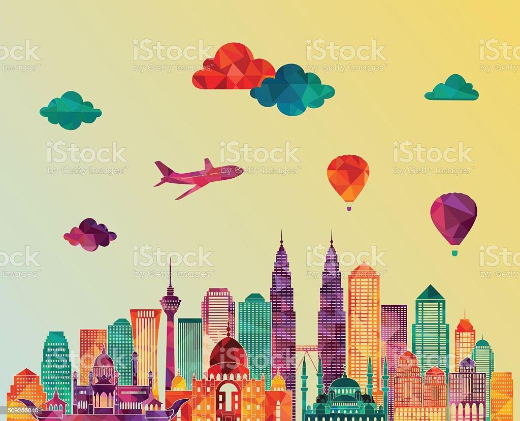 Kuala Lumpur. Vector illustration vector art illustration