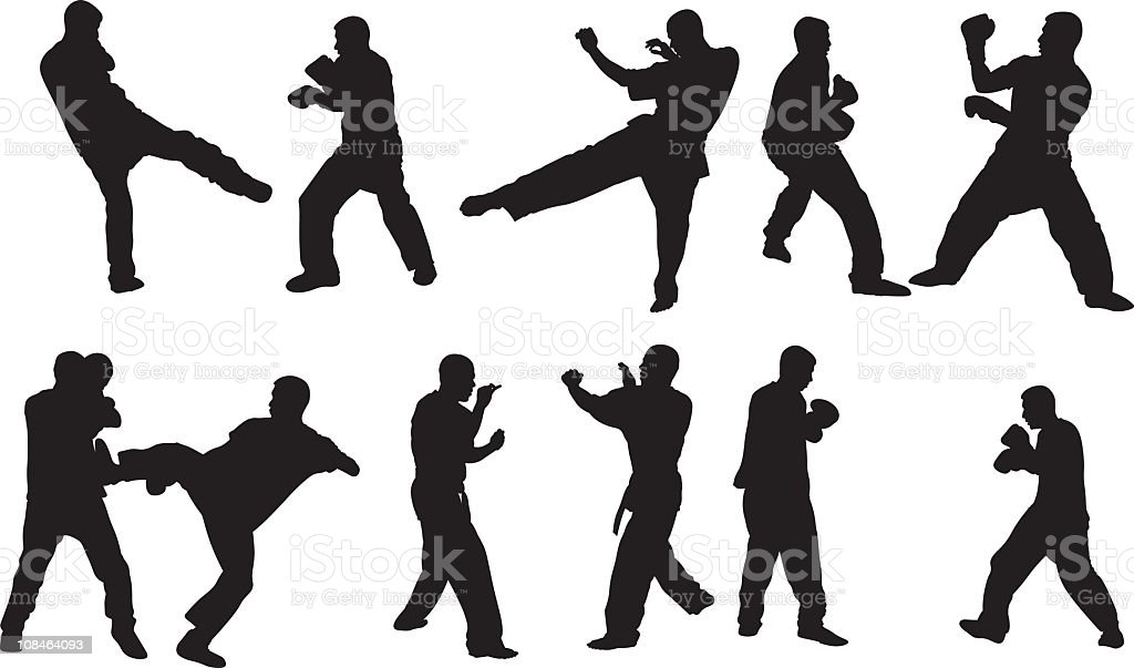 Kung Fu Fighting royalty-free stock vector art