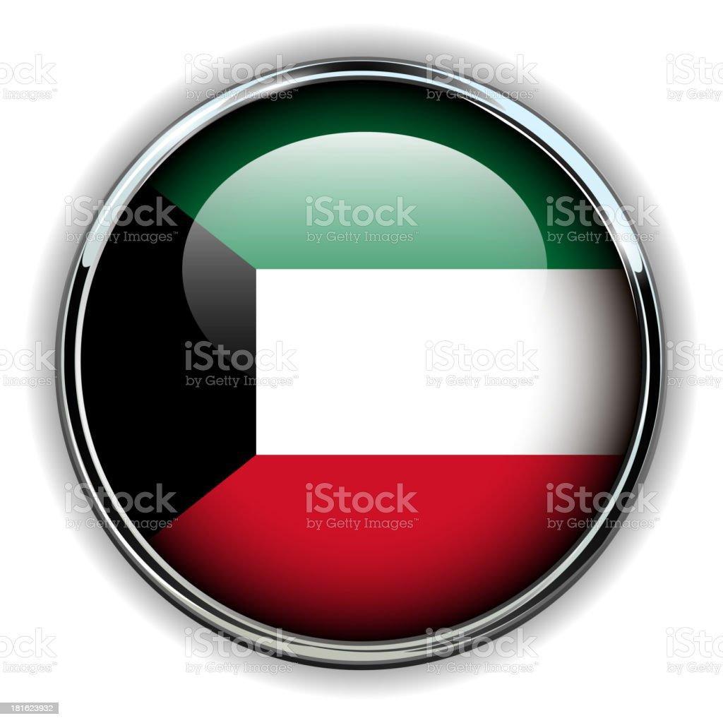 Kuwait button royalty-free stock vector art