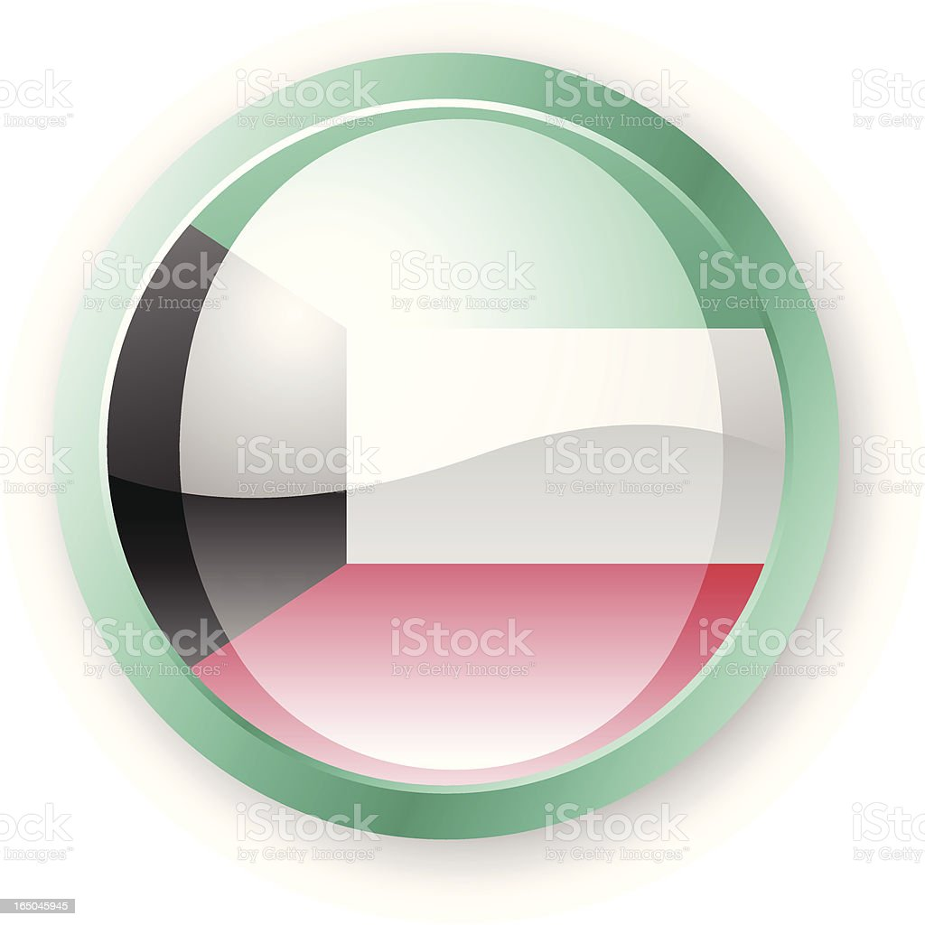 Kuwait Flag Icon royalty-free stock vector art