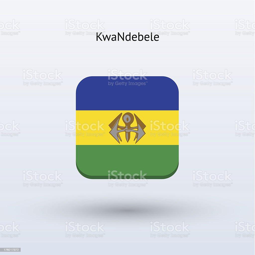 KwaNdebele Flag Icon royalty-free stock vector art