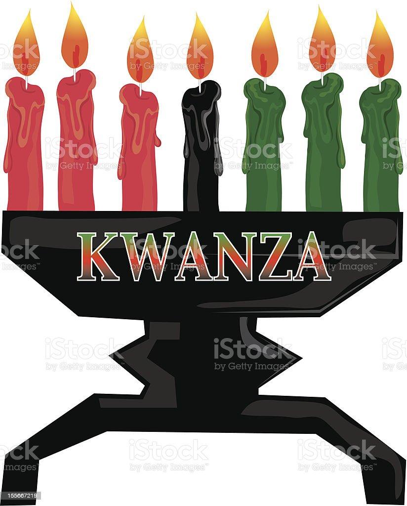 Kwanza candles royalty-free stock vector art