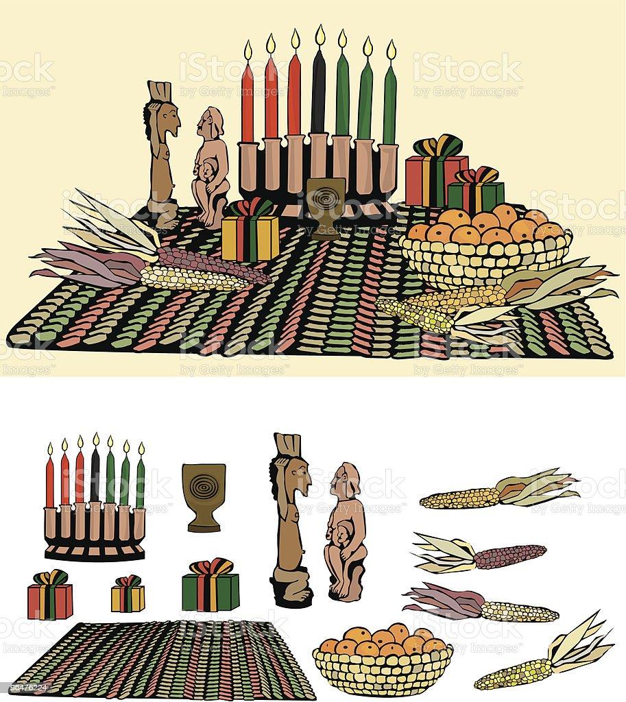 Kwanzaa Arrangement vector art illustration