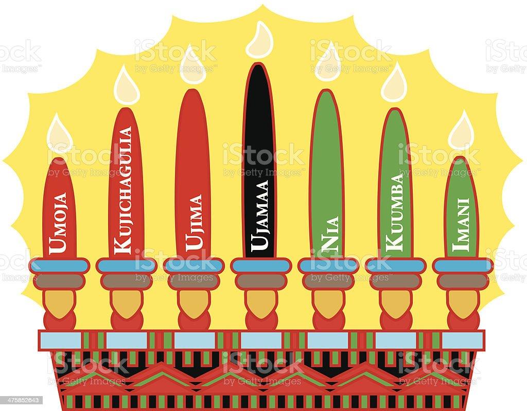Kwanzaa Candles C vector art illustration