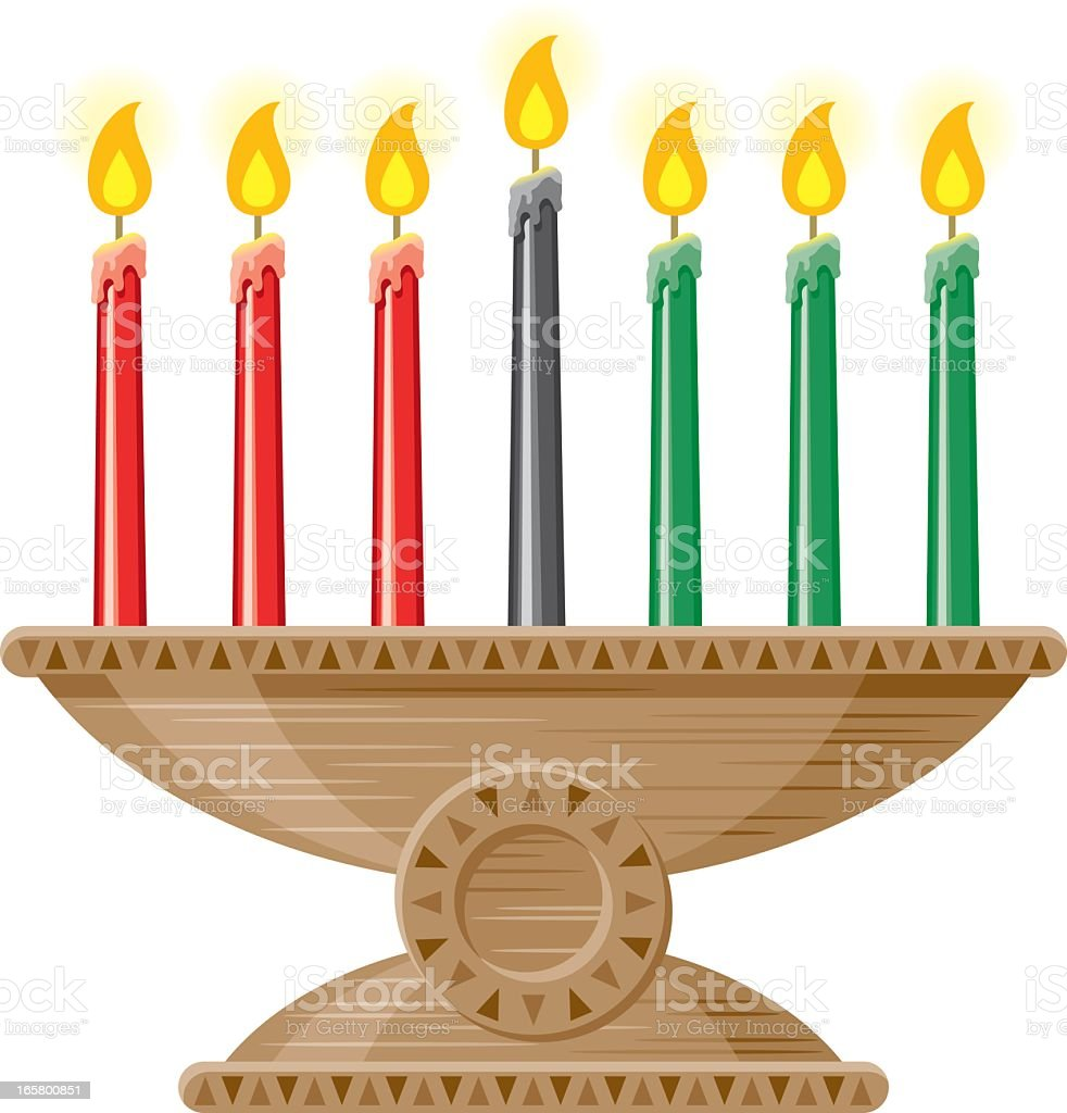 Kwanzaa Candles (Mishumaa Saba) royalty-free stock vector art