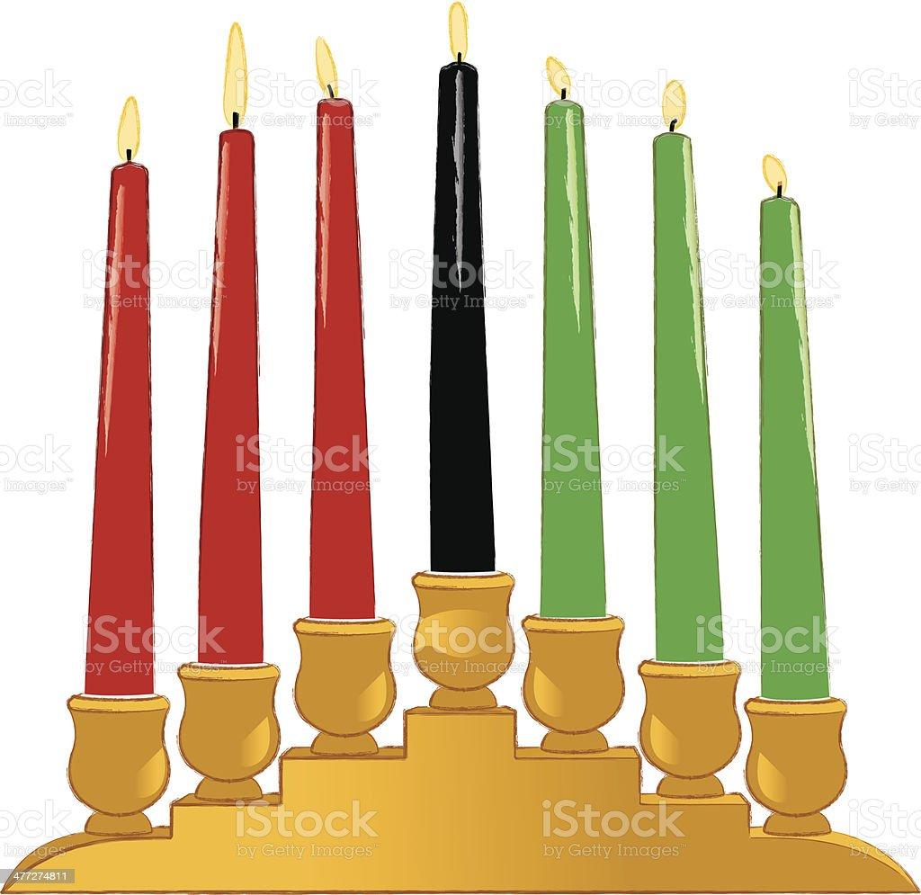 Kwanzaa Candles vector art illustration