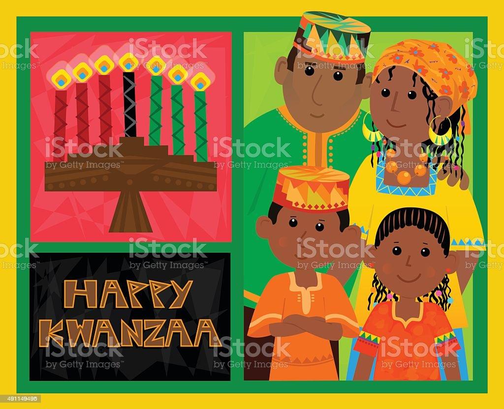 Kwanzaa Card vector art illustration