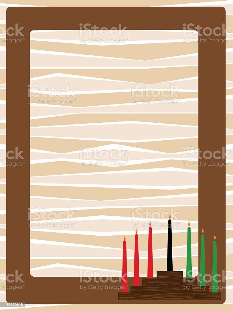 kwanzaa frame vector art illustration