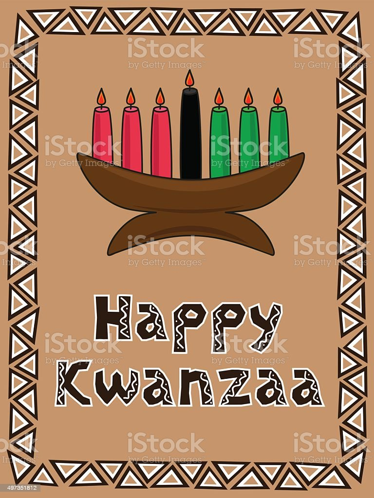 kwanzaa greeting vector art illustration