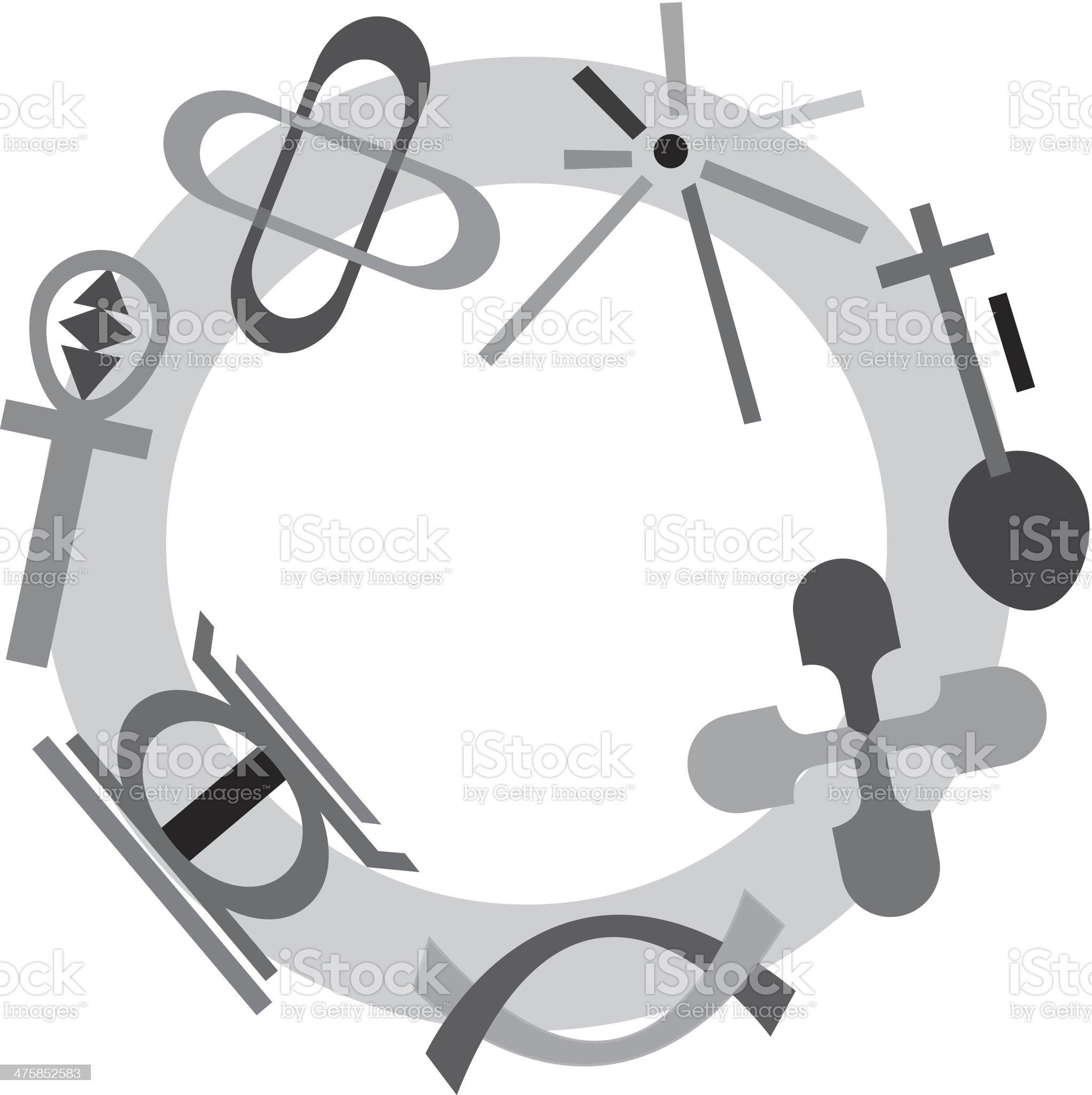 Kwanzaa Symbols royalty-free stock vector art