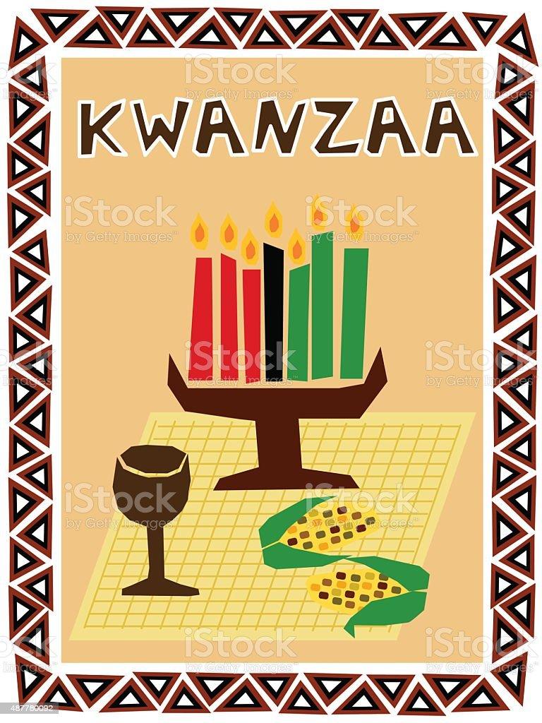 Kwanzaa symbols vector art illustration
