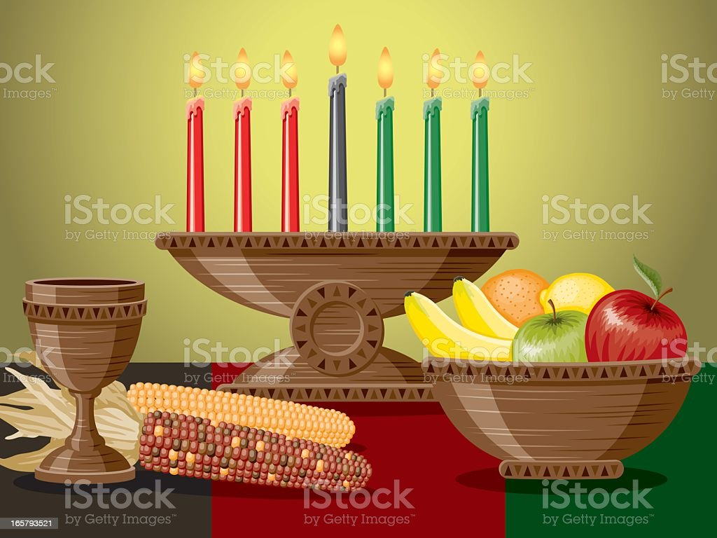 Kwanzaa Table royalty-free stock vector art