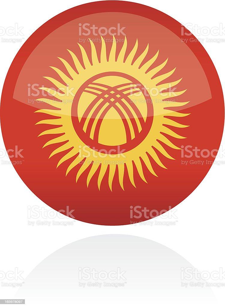 Kyrgyzstan, Asia Flag Button royalty-free stock vector art