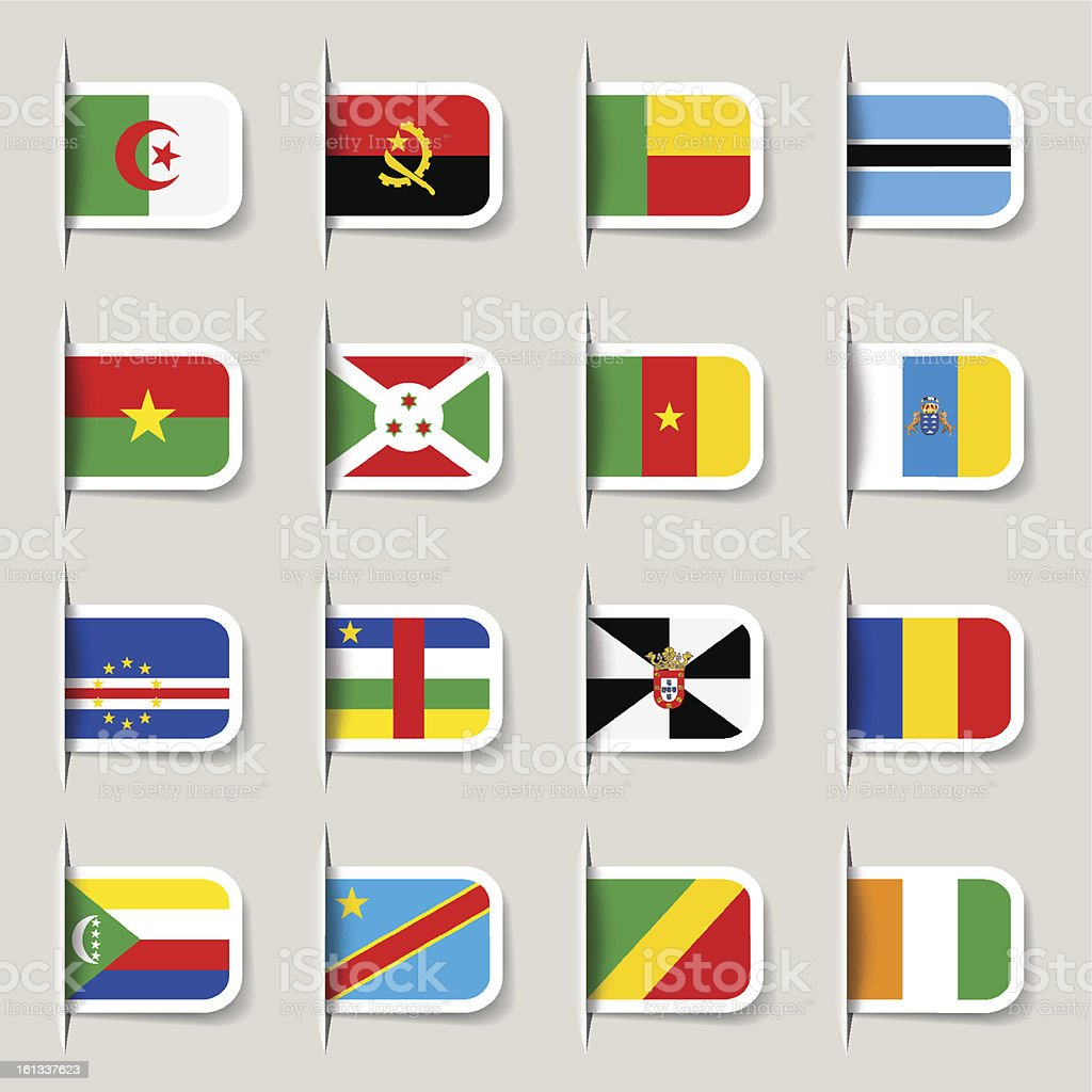 Label - African Flags royalty-free stock vector art