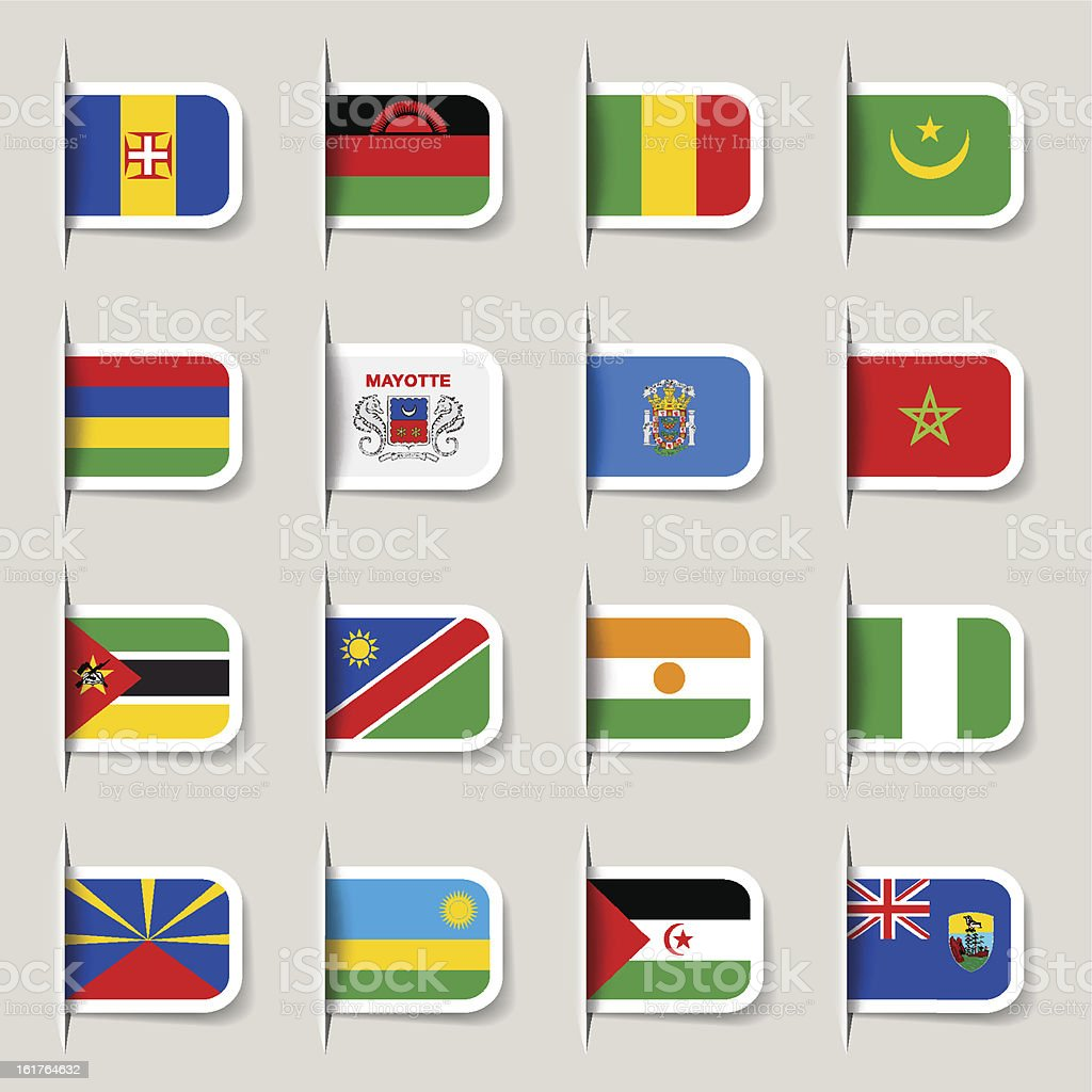 Label - African Flags vector art illustration