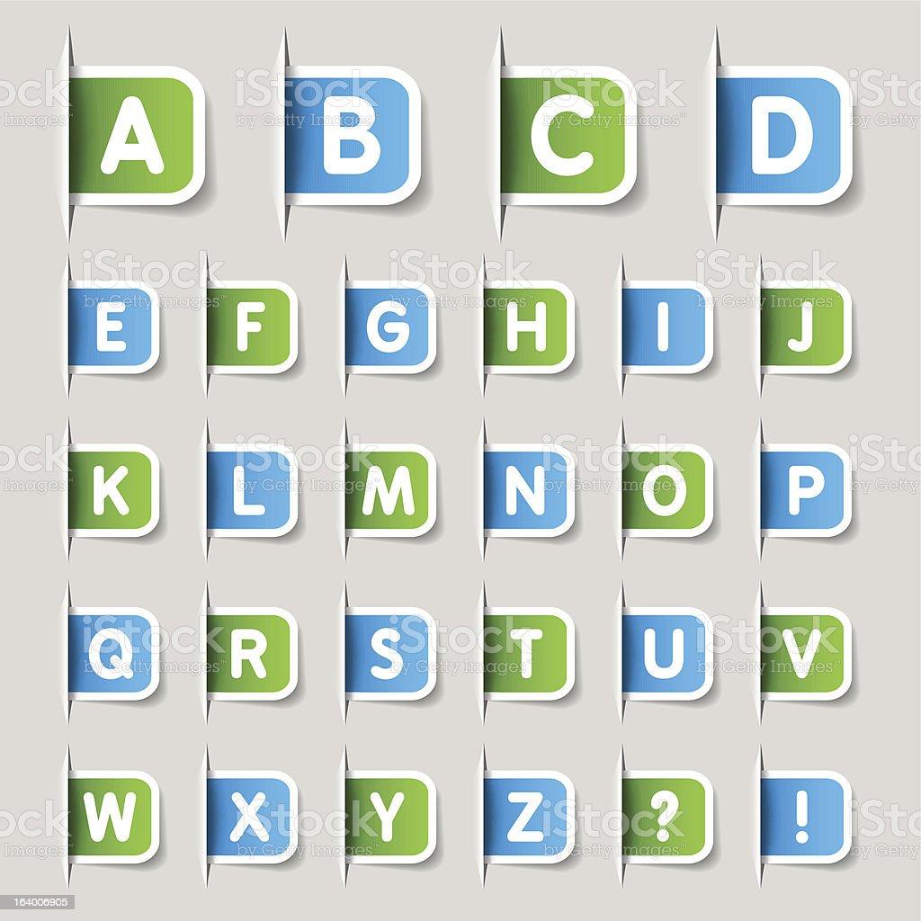 Label - Alphabet vector art illustration