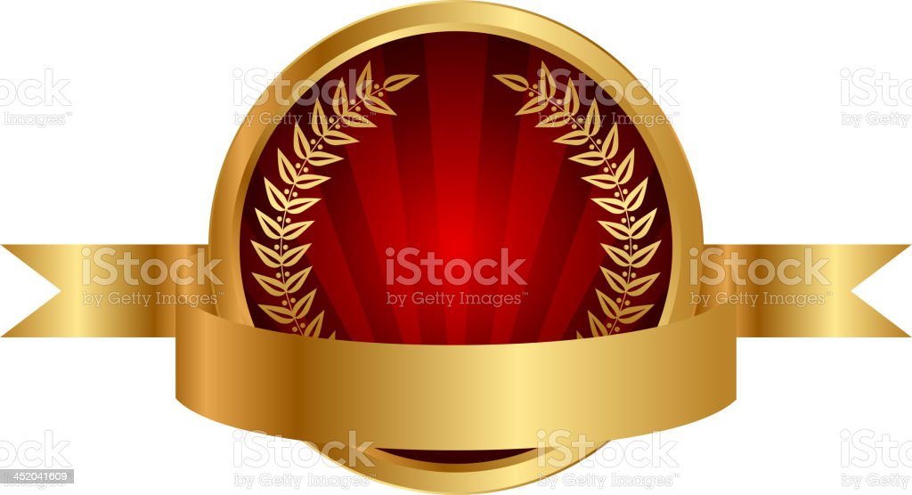 label and gold ribbon royalty-free stock vector art
