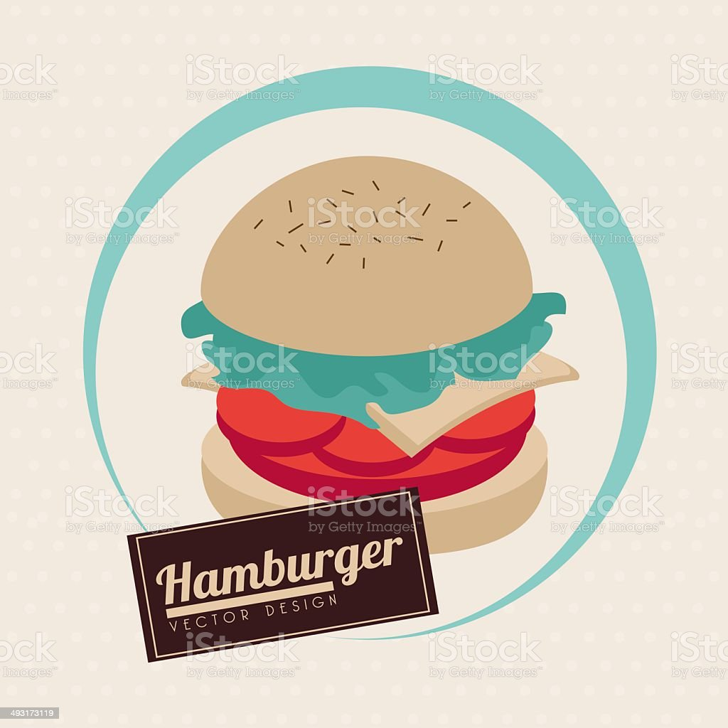 label burger royalty-free stock vector art