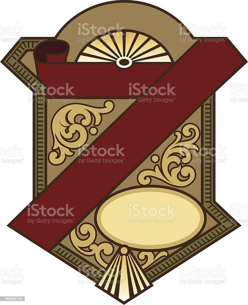 Label design, Ornate Panel royalty-free stock vector art