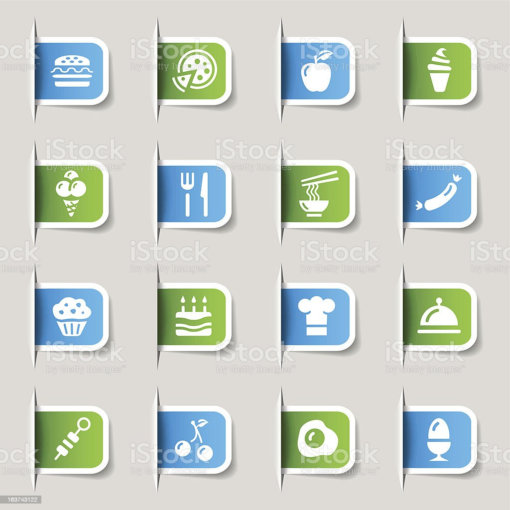 Label - Food Icons royalty-free stock vector art