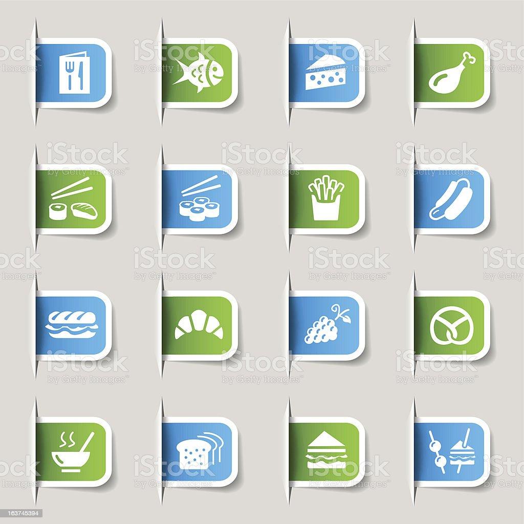 Label - Food Icons vector art illustration