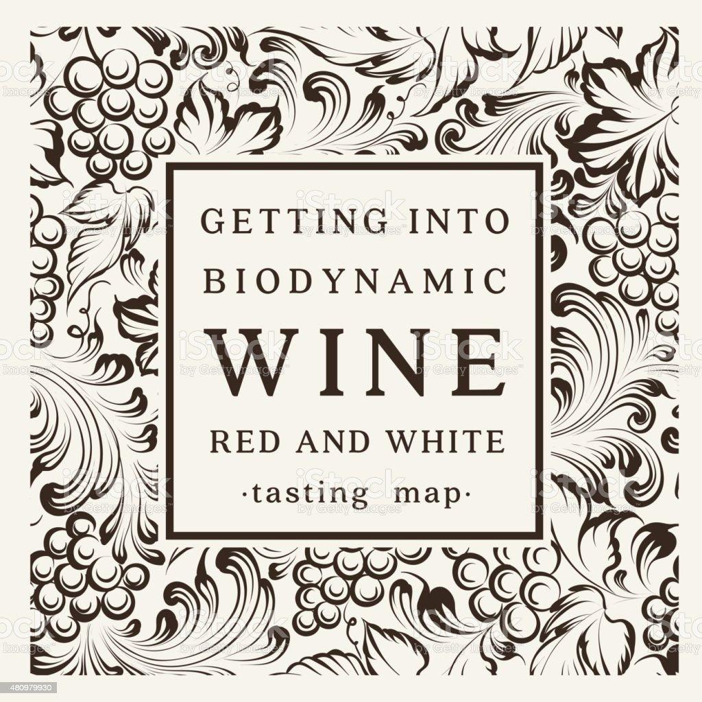 Label for a bottle of wine vector art illustration