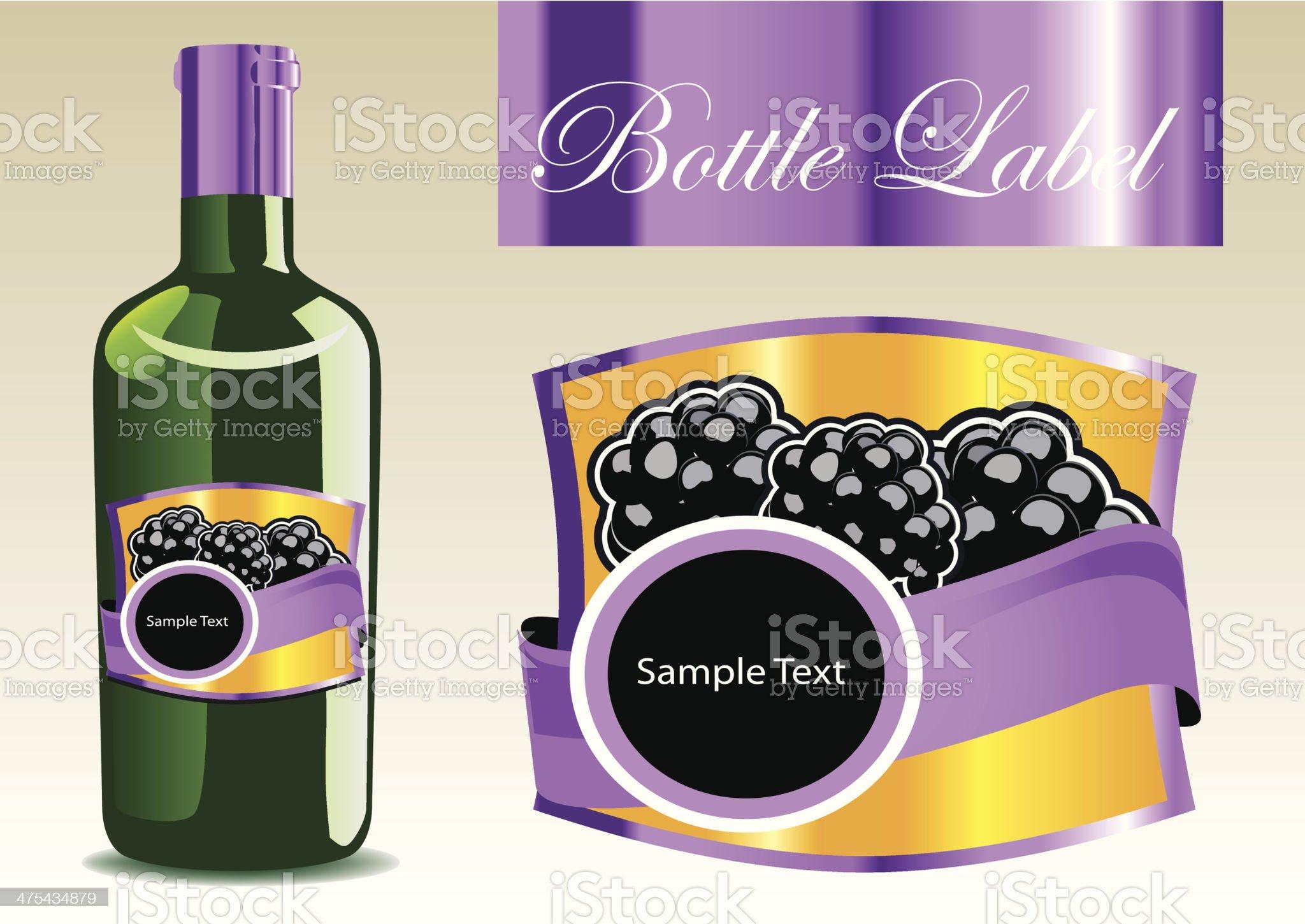 label for bottle royalty-free stock vector art