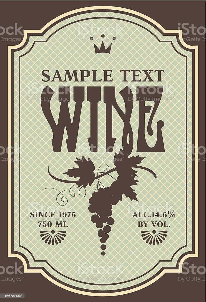 label for wine royalty-free stock vector art