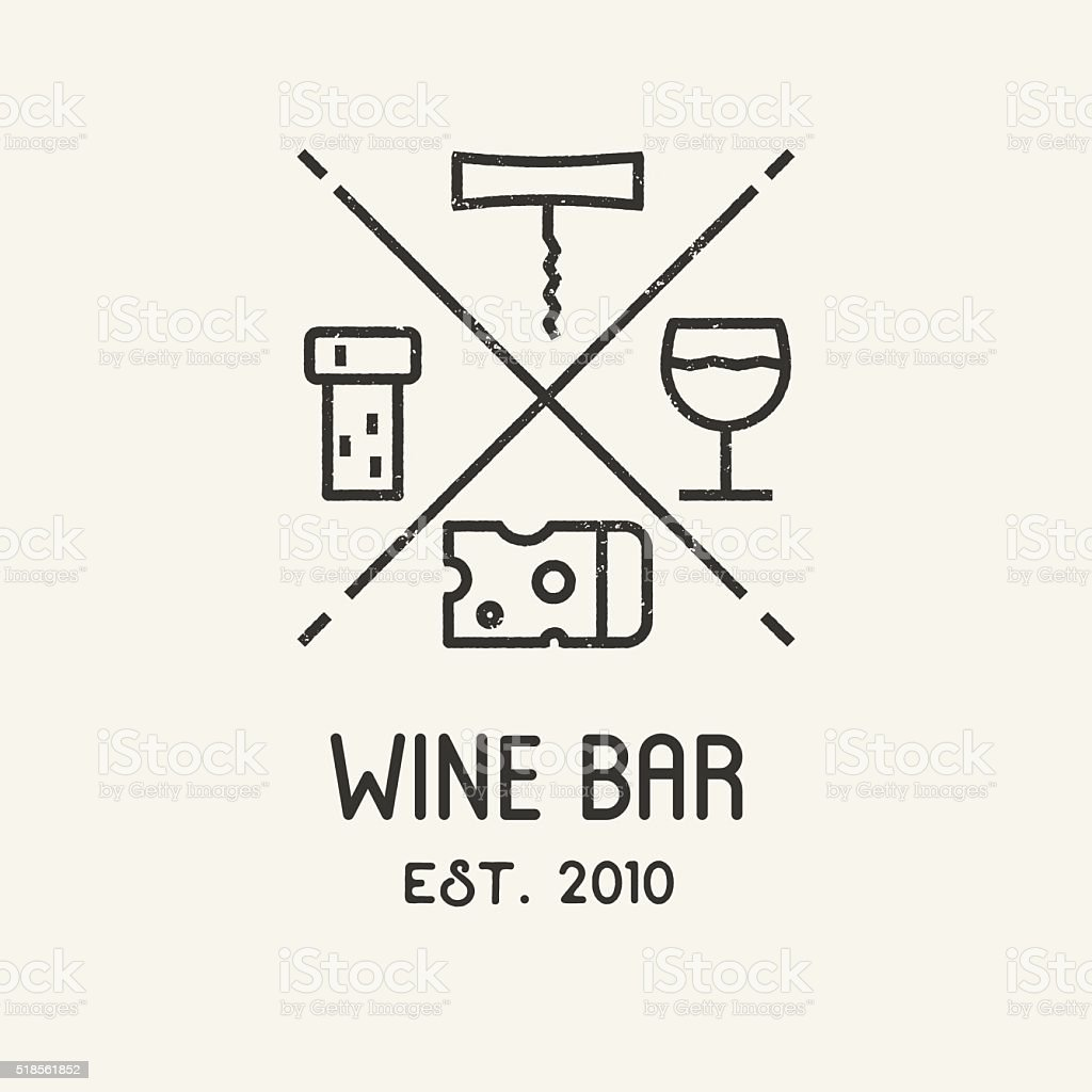 Label for wine, winery or store. vector art illustration