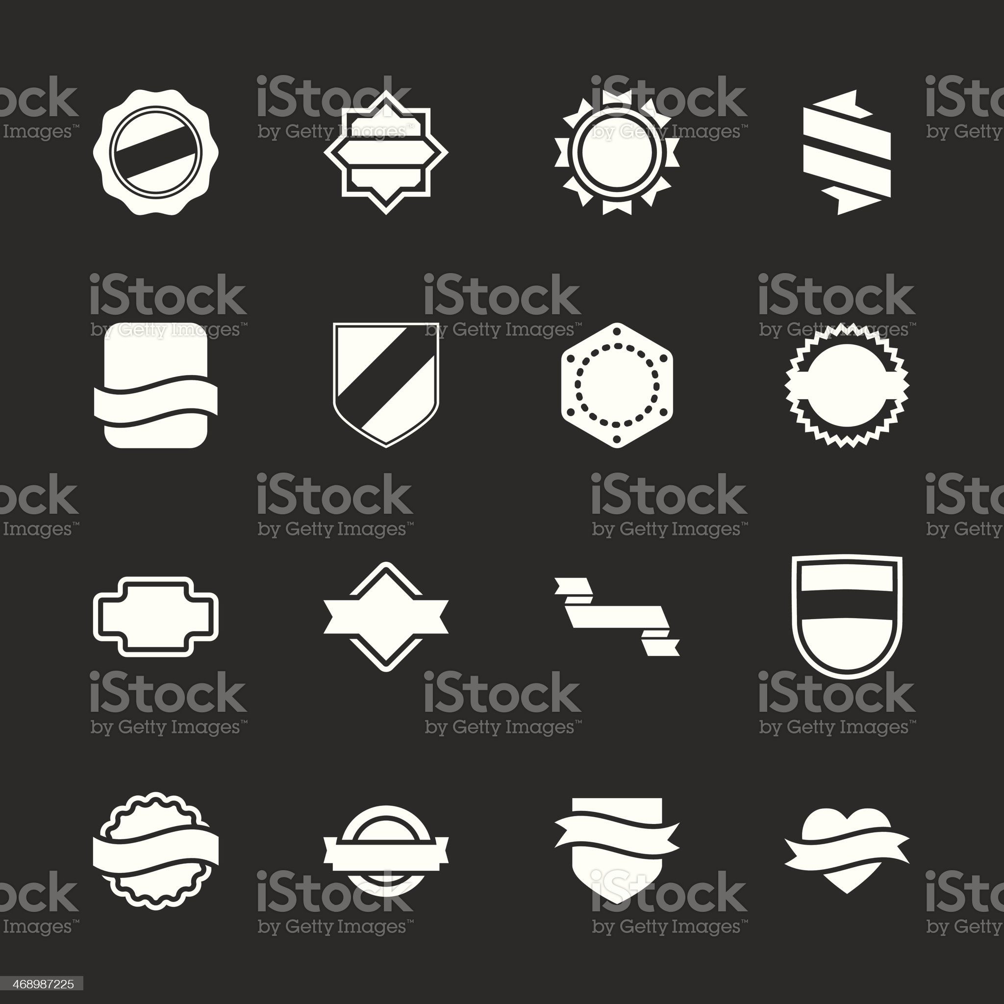 Label Icons Set 5 - White Series royalty-free stock vector art