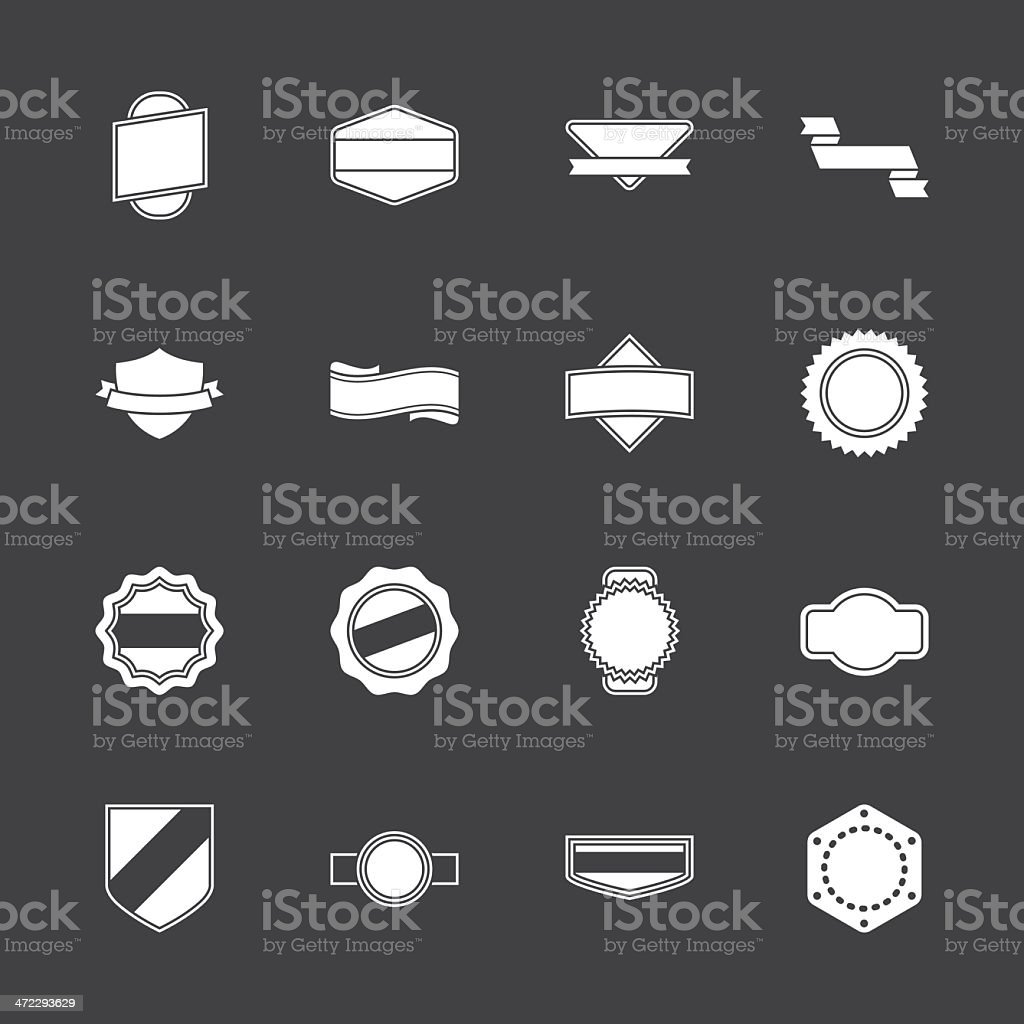 Label Icons - White Series | EPS10 royalty-free stock vector art