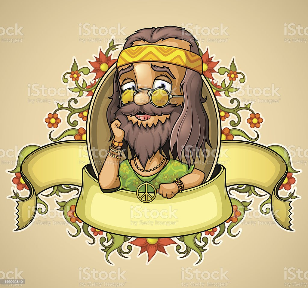 Label kindness hippie royalty-free stock vector art