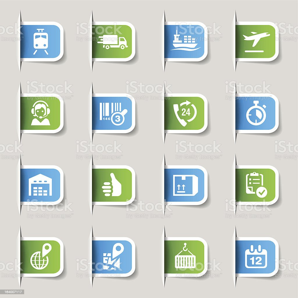Label - Logistic and Shipping icons vector art illustration
