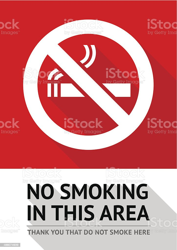 Label No smoking sticker vector art illustration