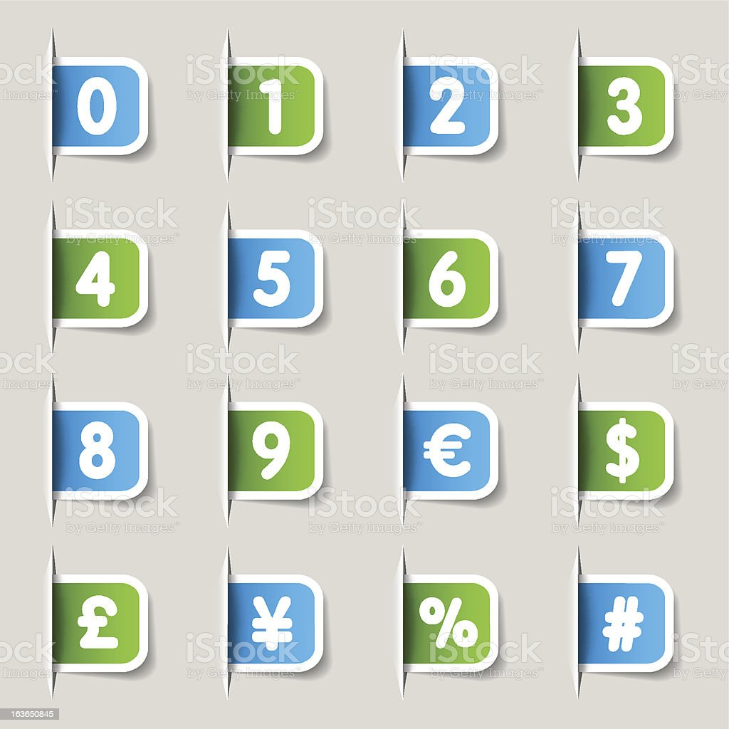 Label - Numbers royalty-free stock vector art