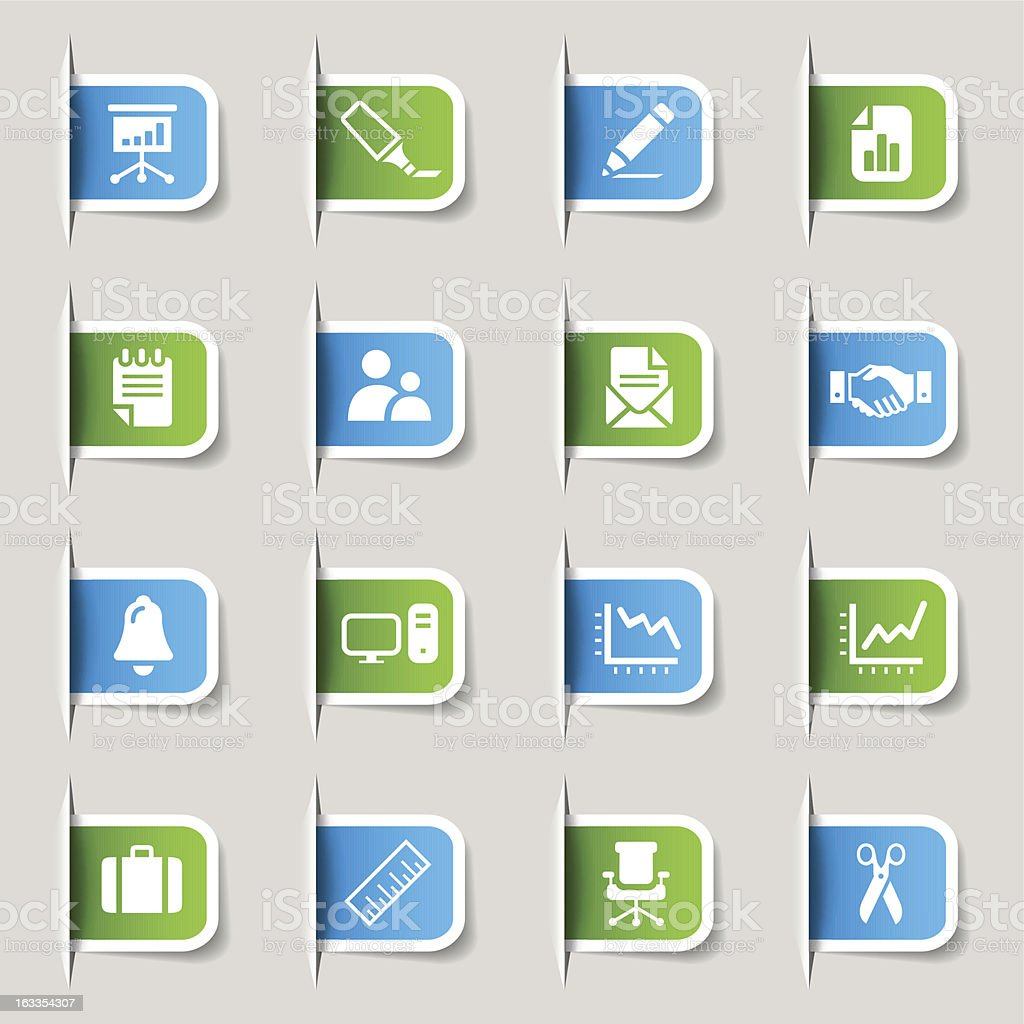 Label - Office and Business Icons royalty-free stock vector art