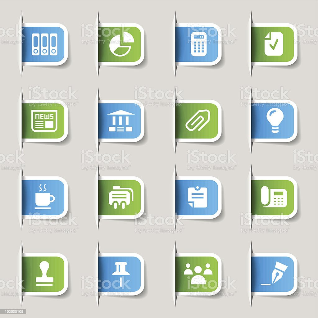 Label - Office and Business Icons vector art illustration