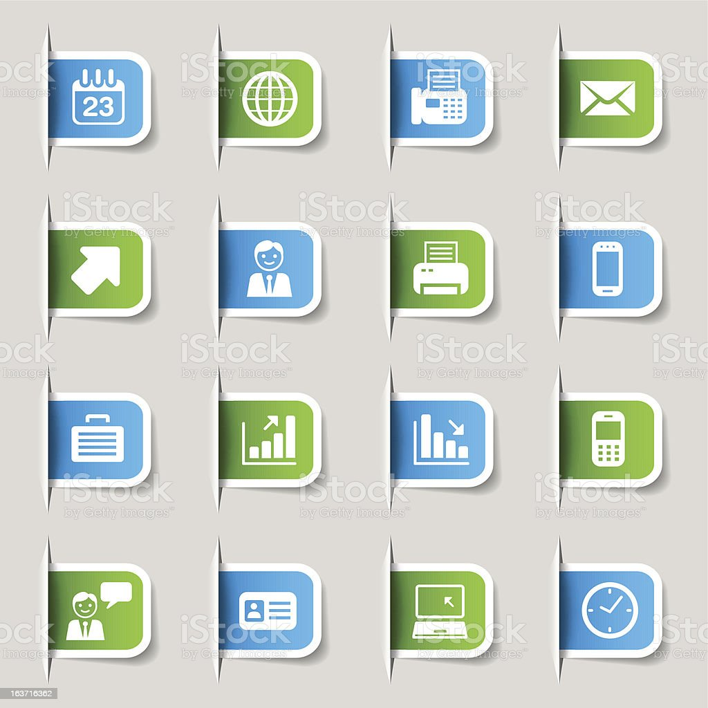Label - Office and Business Web Icons vector art illustration