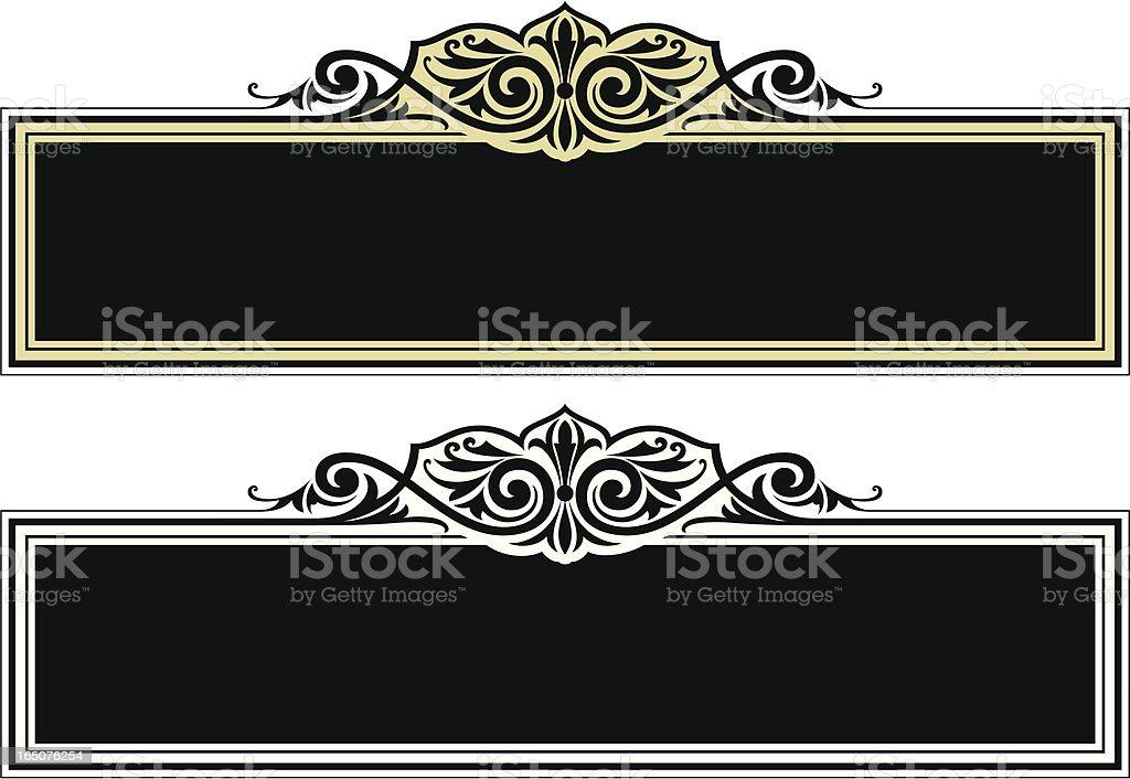 Label Scroll Design royalty-free stock vector art